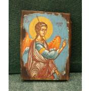 Αγιογραφία σε κορμό ξύλου - Αρχάγγελος Μιχαήλ