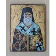 """Αγιογραφία σε ξύλο - """" ο άγιος Νεκτάριος """""""