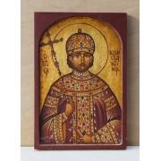 """Αγιογραφία σε ξύλο - """" Ο άγιος Κωνσταντίνος"""""""