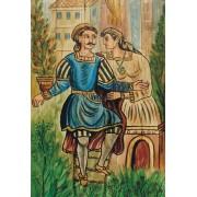 Ξύλινο καδράκι - Αναπαραγωγή έργου του Θεόφιλου