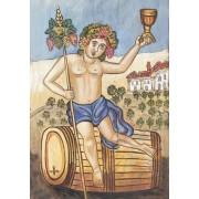 Ξύλινο καδράκι - Aναπαραγωγή έργο του Θεόφιλου  Α3